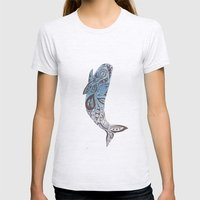 Whale  Womens Fitted Tee Ash Grey SMALL