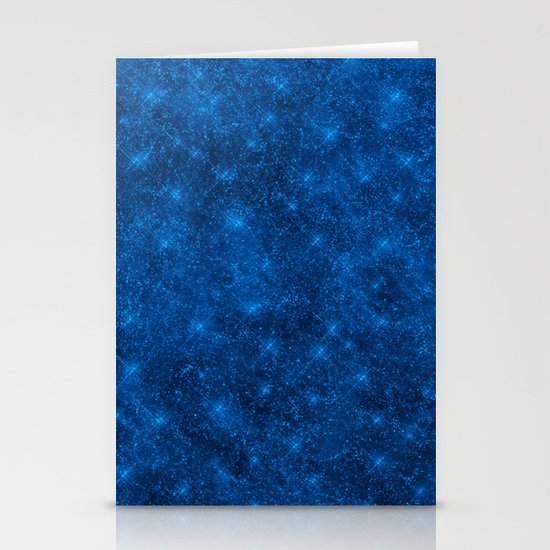 Sequin series blue Stationery Card