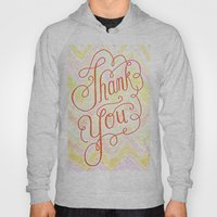 Thank you - hand lettered on chevron Hoody