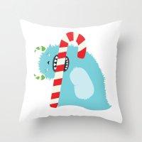 December Monsters: Taste… Throw Pillow