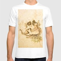skull4 Mens Fitted Tee White SMALL