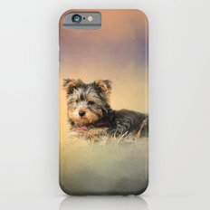 Loving the Leaves - Yorkshire Terrier Puppy iPhone 6s Slim Case