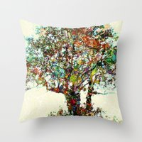 Tree Mosaic Throw Pillow