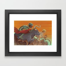 Bullride Framed Art Print
