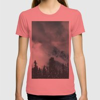 Mountain Majesty Womens Fitted Tee Pomegranate SMALL