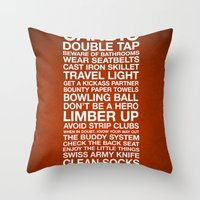 Zombieland —The Rule… Throw Pillow
