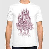 Castle In The Trees Mens Fitted Tee White SMALL