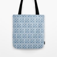 Blue Tile Pattern No. 3 Tote Bag