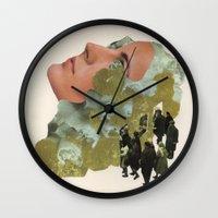 Brain Ticket Wall Clock