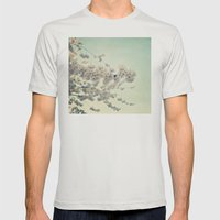 Pear Blossoms Mens Fitted Tee Silver SMALL