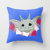 Goblin Flowers Throw Pillow