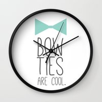 Bow Ties Are Cool Wall Clock