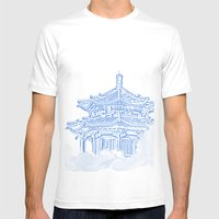 Zen Temple In The Cloud Mens Fitted Tee White SMALL
