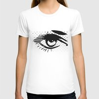POP eye Womens Fitted Tee White SMALL