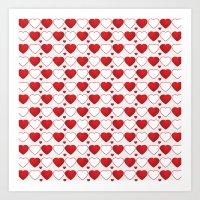 Hearts Galore! Art Print
