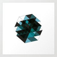 #73 Pervasive spaces – Geometry Daily Art Print