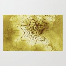 Star mandala in gold Rug