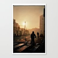 Foggy City Canvas Print