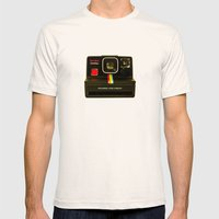 Polaroid Mens Fitted Tee Natural SMALL
