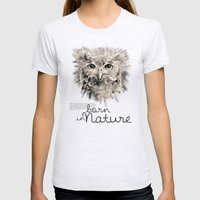 Owl (BornInNature) Womens Fitted Tee Ash Grey SMALL