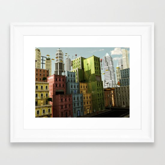 Sky Cafe Framed Art Print