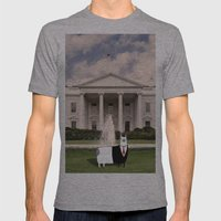 President O'Llama At The… Mens Fitted Tee Athletic Grey SMALL