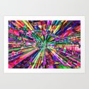 Colorful Rays of Light Art Print