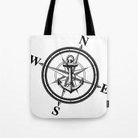 Nautica BW Tote Bag