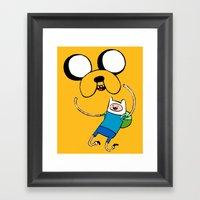Adventure Time - FAN ART Framed Art Print