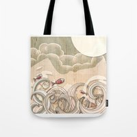 wave scape Tote Bag