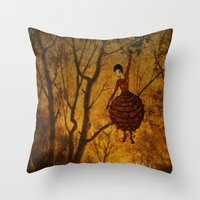 Pine Girl Throw Pillow