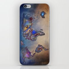 Stars world map. Blue iPhone & iPod Skin