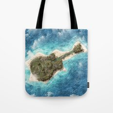 Guitar Island Tote Bag