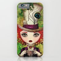 iPhone & iPod Case featuring Lady Hatter by Sandra Vargas