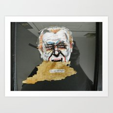 Bukowski & the age old fight Art Print