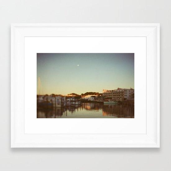 Harbor Moon Framed Art Print