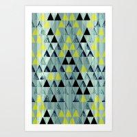 Triangle Rivers Art Print