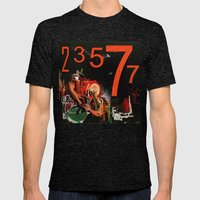 23577 Mens Fitted Tee Tri-Black SMALL