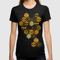 Dance Of Bees Womens Fitted Tee Tri-Black SMALL