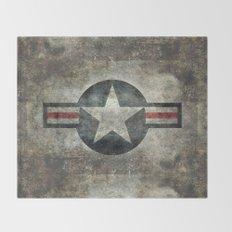 Stylized USAF star symbol (roundel)  #1 Throw Blanket