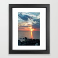 Sandy Hook Sunset Framed Art Print