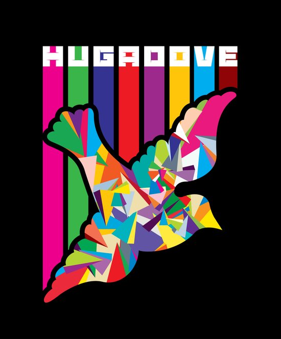 Hug A Dove Art Print
