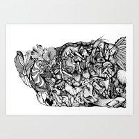 Inking Art Print