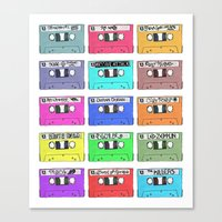 Cassettes - My Favourite… Canvas Print