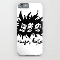 iPhone & iPod Case featuring faces by benjamin chaubard