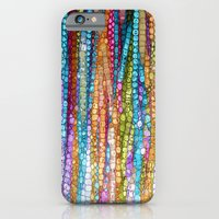 iPhone Cases featuring Rainbow Mosaic by Joke Vermeer