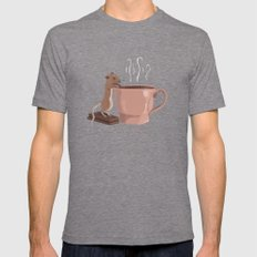 The Tea Drinker Mens Fitted Tee Tri-Grey SMALL