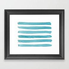 Watercolor Juicy Strokes: Teal Framed Art Print