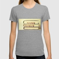 Read Books Womens Fitted Tee Tri-Grey SMALL