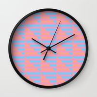 Pink Blue Peach Houndsto… Wall Clock
